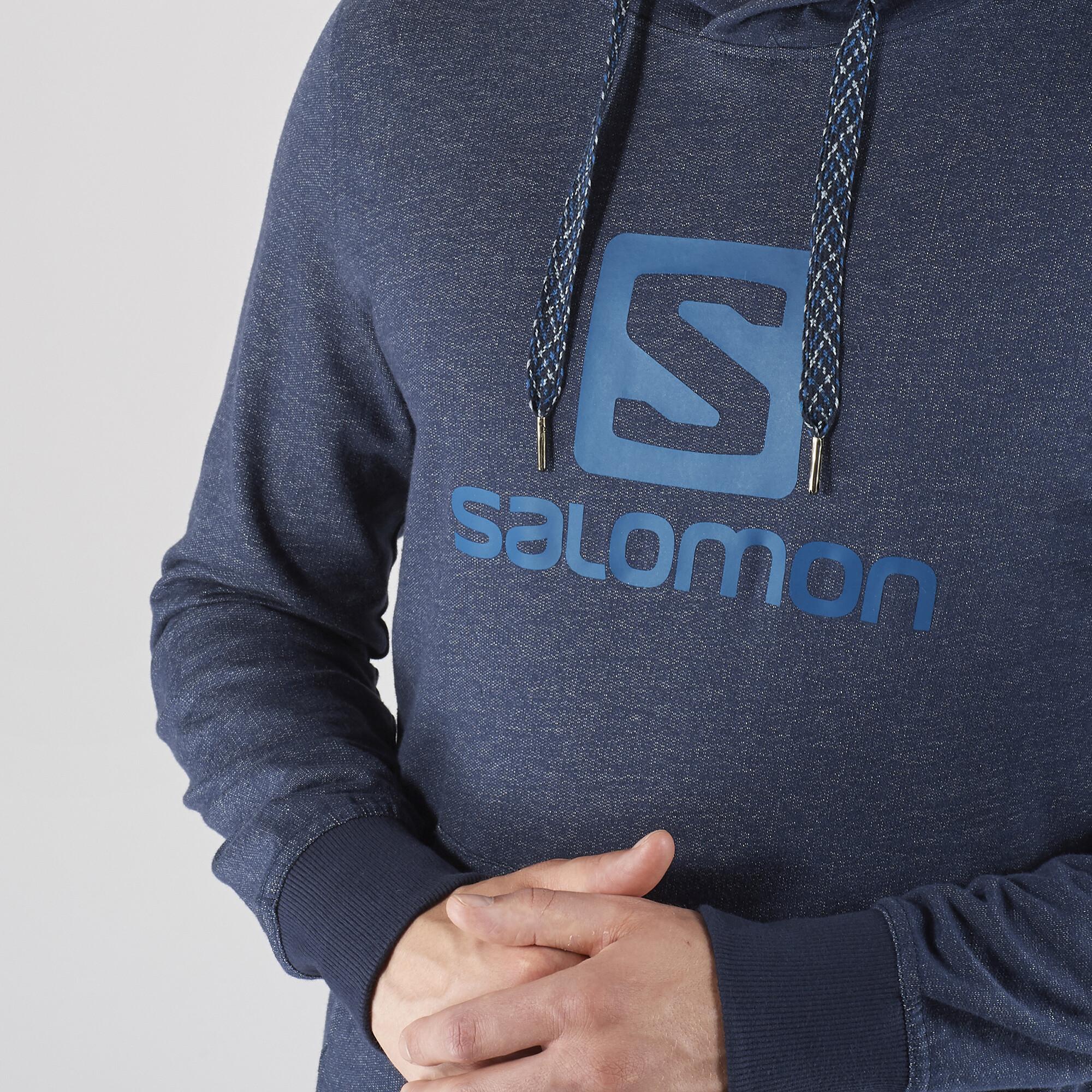 Salomon Logo Hoodie Men night sky at addnature.co.uk